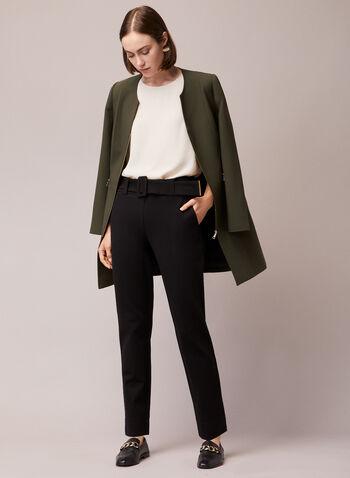Front Zip Redingote, Green,  jacket, redingote, zipper, long sleeves, martingale, fall winter 2020
