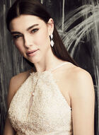 BA Nites - Embroidered Chiffon Gown , Off White, hi-res