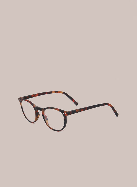 Marbled Clubmaster Reading Glasses, Brown