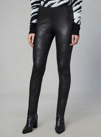 Faux Leather Kayla Leggings, Black, hi-res,