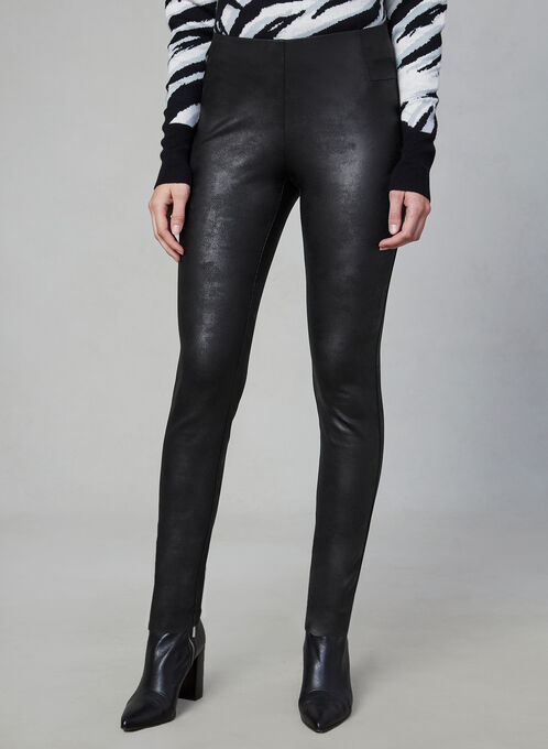 Faux Leather Kayla Leggings, Black, hi-res