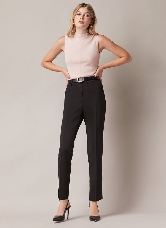 Giselle Slim Leg Pants, Black