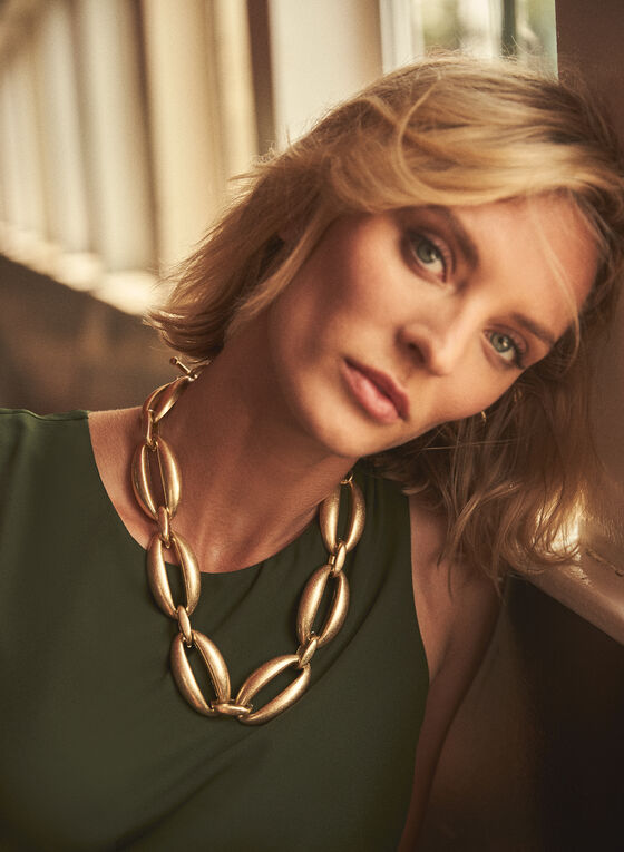 Oval Link Chain Necklace, Gold