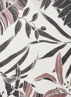 Foulard oblong à imprimé feuilles, Gris, hi-res