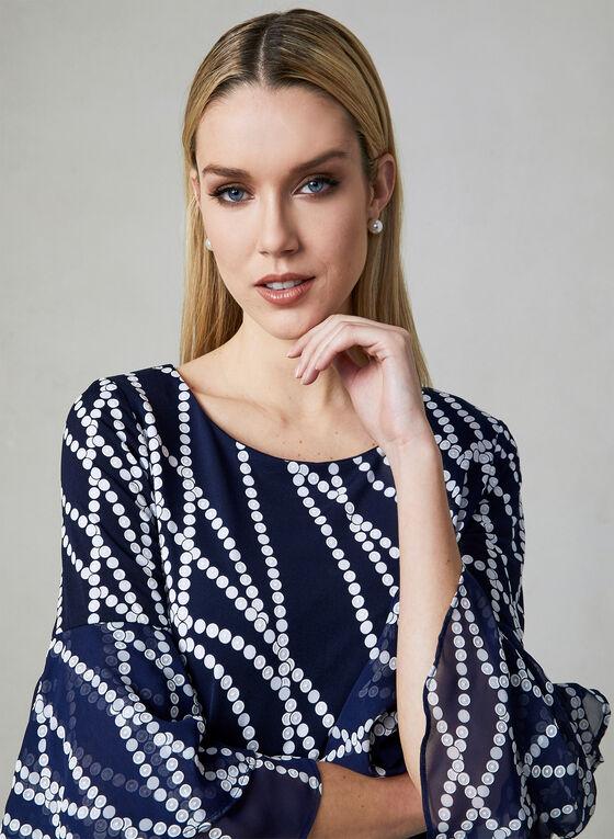 Sandra Darren - Robe droite à motif fantaisie, Bleu