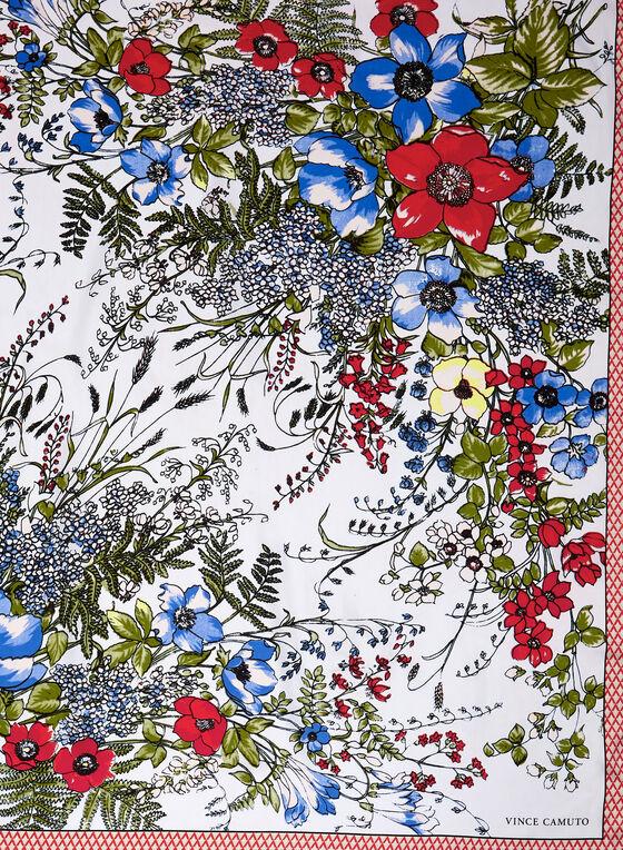 Vince Camuto - Foulard fleurs sauvages, Rouge, hi-res