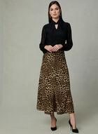 Leopard Print Skirt, Black, hi-res