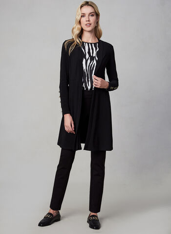 Long Sleeve Duster, Black,  fall winter 2019, long sleeves, cardigan, open front, duster