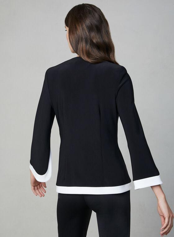 Joseph Ribkoff - Veste à bordures contrastantes, Noir, hi-res