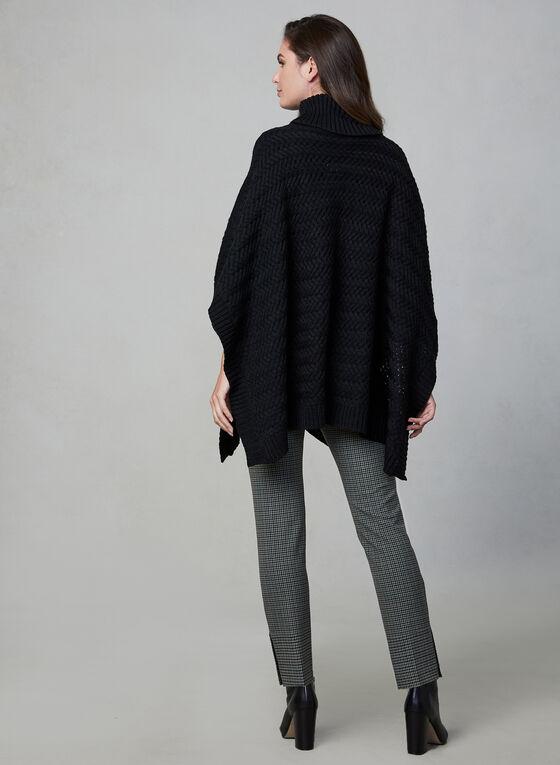 Echo New York - Knit Poncho, Black
