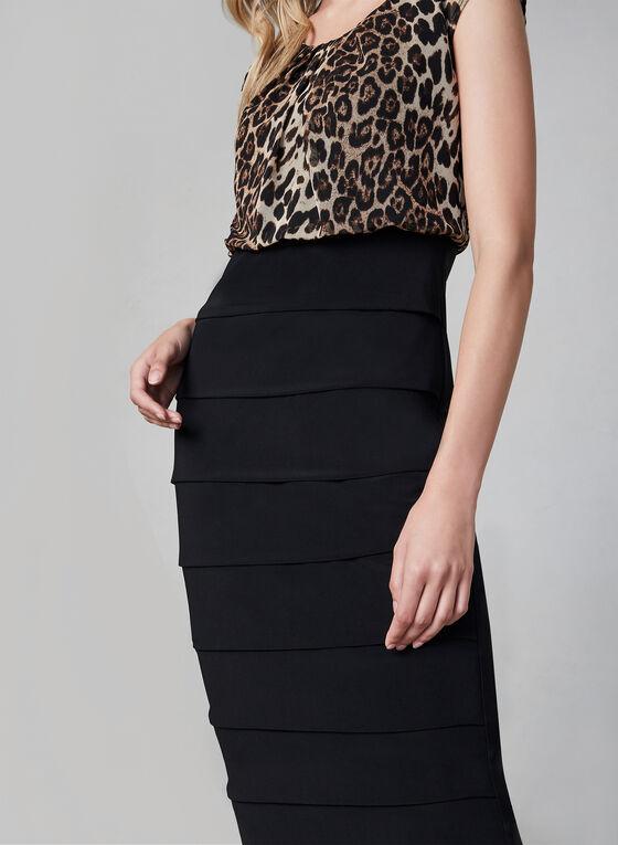 Frank Lyman - Leopard Print Dress, Black, hi-res