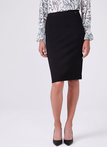 Ponte de Roma Pencil Skirt, Black, hi-res