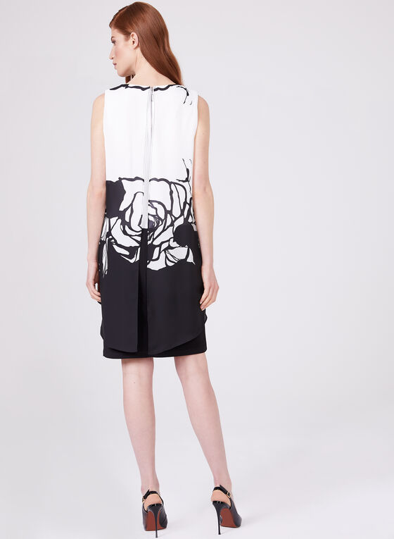 Frank Lyman - Chiffon Overlay Dress, Black, hi-res