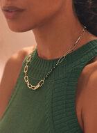 Collier à chaînes et pierres , Vert