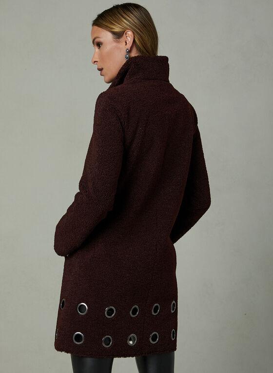 Nikki Jones - Manteau en laine sherpa et œillets, Violet, hi-res