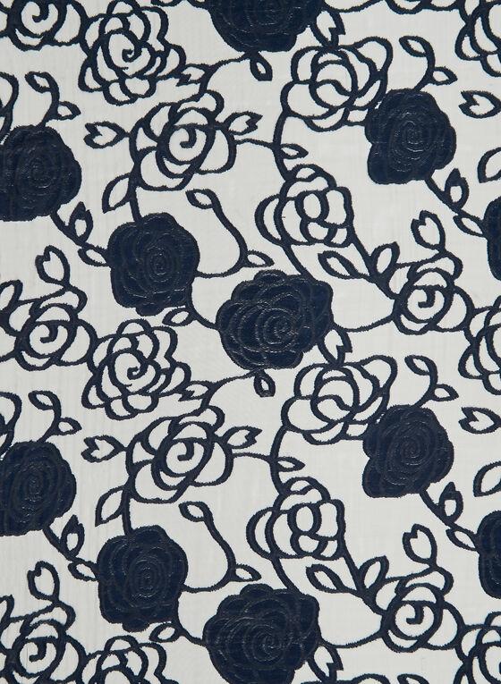 Foulard léger à imprimé floral abstrait, Bleu, hi-res