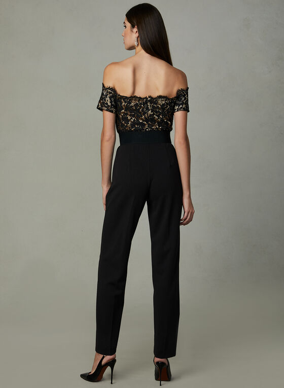 Frank Lyman - Off The Shoulder Jumpsuit, Black, hi-res