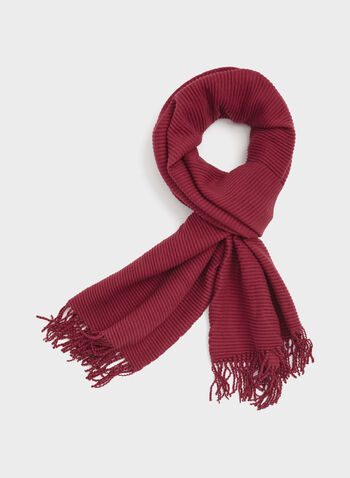 Ribbed Neck Wrap, Red, hi-res