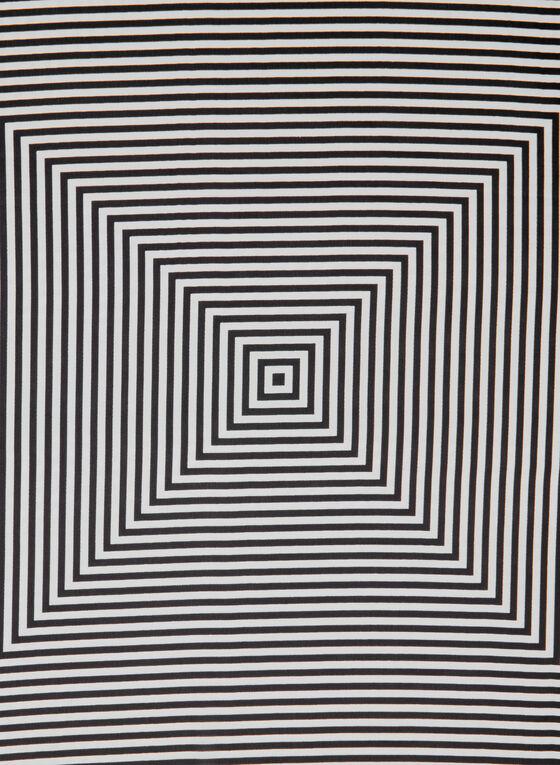 Foulard à imprimé géométrique, Noir, hi-res