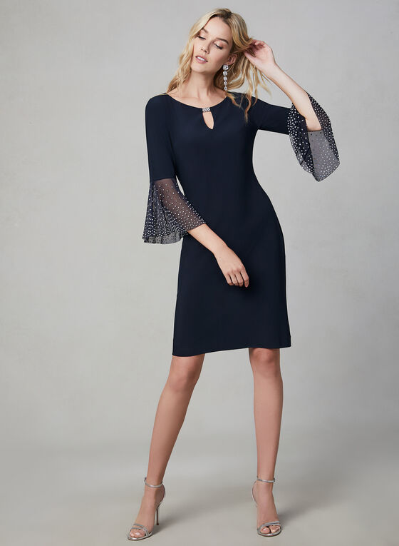 Cachet – Bell Sleeve Shift Dress, Blue