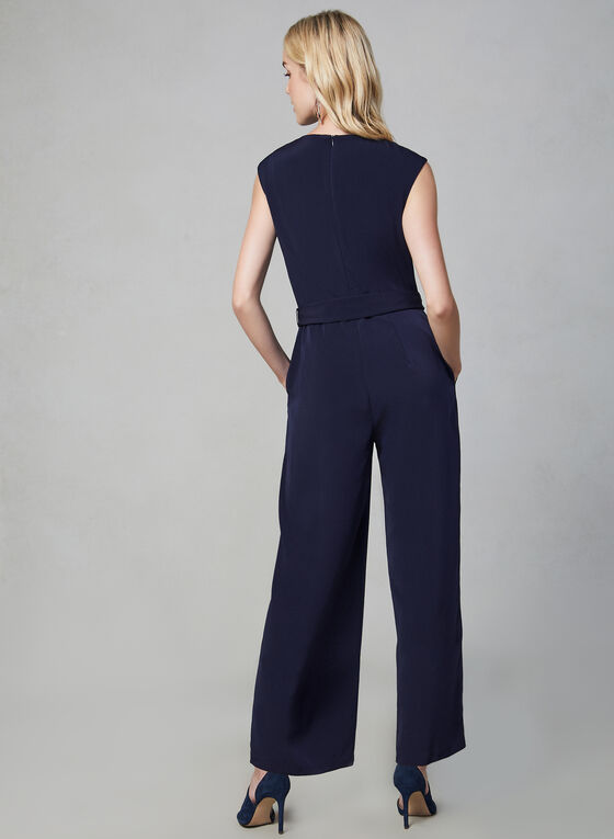 Maggy London - Wide Leg Jumpsuit, Blue
