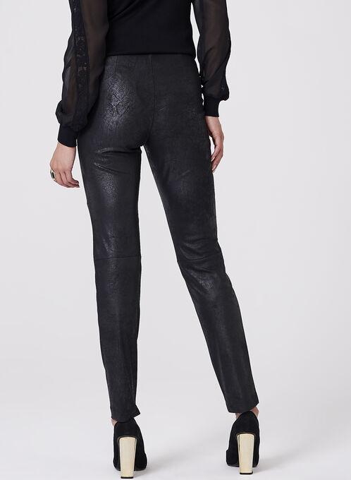 Faux Leather Leggings , Black, hi-res