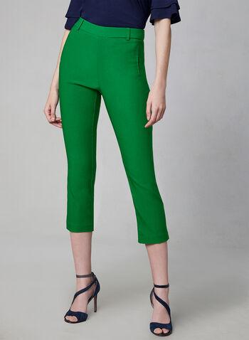 Jules & Leopold - Capri Pants, Green, hi-res,  capris, pull-on, elastic waist, spring 2019, summer 2019