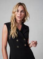 Sandra Darren - Sleeveless Shirt Dress, Black, hi-res