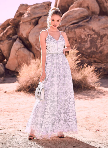 Cachet - Glitter Gown, Blue, hi-res