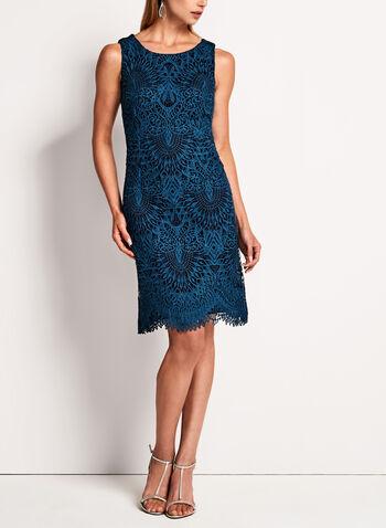Scallop Lace Sheath Dress, , hi-res