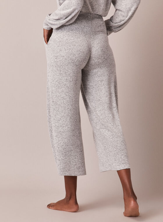 Wide Leg Pull-On Pants, Grey