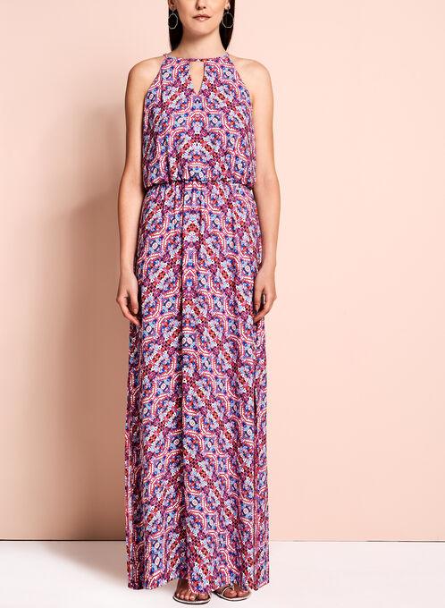 Maggy London - Abstract Print Maxi Dress, Multi, hi-res