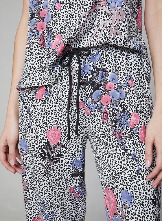 Hamilton - Pyjama 2 pièces motif animalier et fleurs, Noir