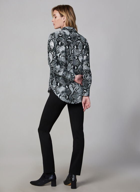 Snake Print Blouse, Black, hi-res