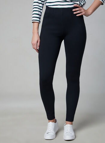 Kayla Pull-On Leggings, Blue, hi-res