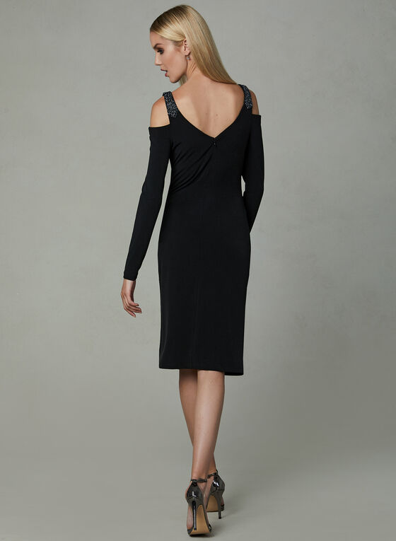 Linea Domani - Cold Shoulder Jersey Dress, Black, hi-res