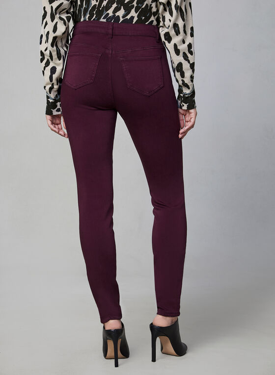 Sculpting Slim Leg Jeans, Purple