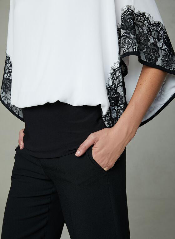 Joseph Ribkoff - Lace Detail Kimono Top, Off White, hi-res