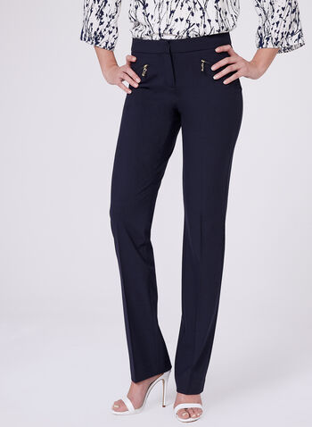 Lauren Straight Leg Pants, Blue, hi-res