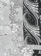 Mixed Floral Print Lightweight Scarf, Black