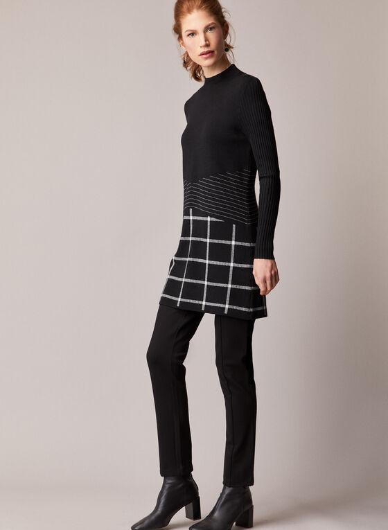 Elena Wang - Mock Neck Tunic Sweater, Black