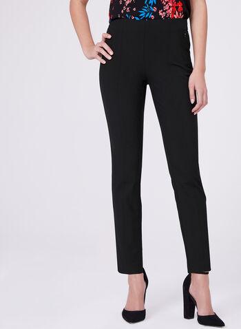 Pantalon Amber longueur cheville à jambe étroite, Noir, hi-res