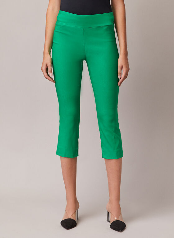 Slim Leg Pull-On Capris, Green