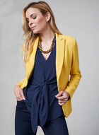 Layered Crepe Top, Blue