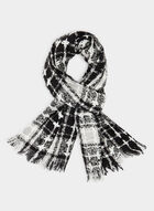 Plaid Blanket Scarf, Black