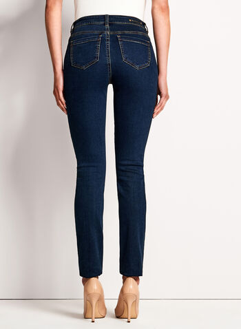 Sculpting Slim Leg Jeans, Blue, hi-res