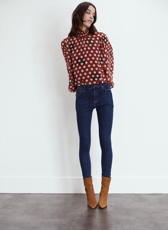 Yoga Jeans - Jean à jambe étroite et taille mi-haute, Bleu