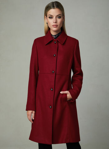 8592058c7c759 Novelti - Lapel Collar Semi Fitted Coat