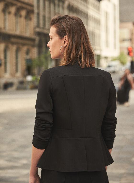 Military Style Jacket, Black