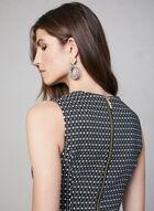 Kensie - Robe fourreau à motif géométrique, Noir, hi-res